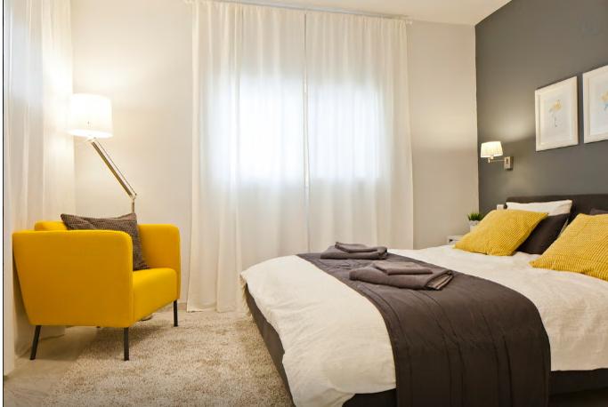 חדר שינה מעוצב בתל-אביב