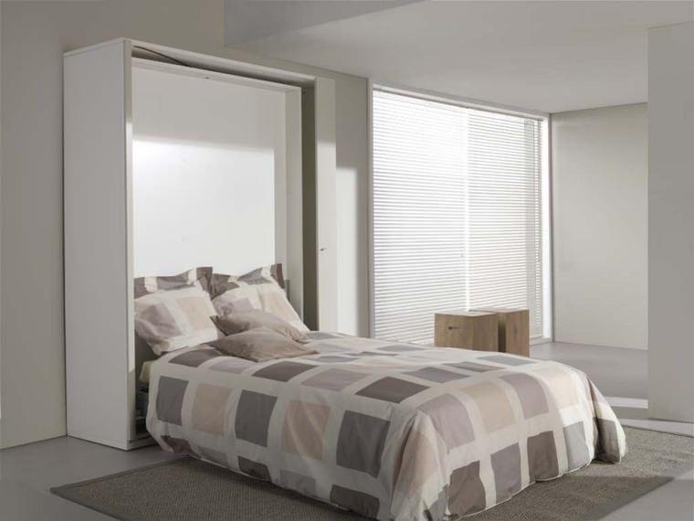 מיטת קיר נפתחת לדירה קטנה במצב פתוח - millano bedding