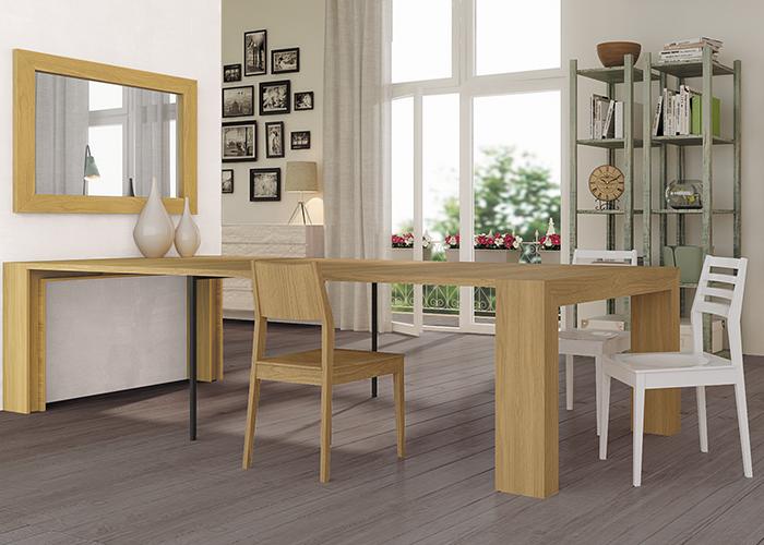 שולחן קונסולה פתוח לדירה קטנה