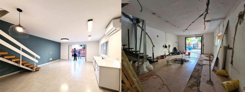 לפני ואחרי - השבחת נכסים - מבט מהכניסה